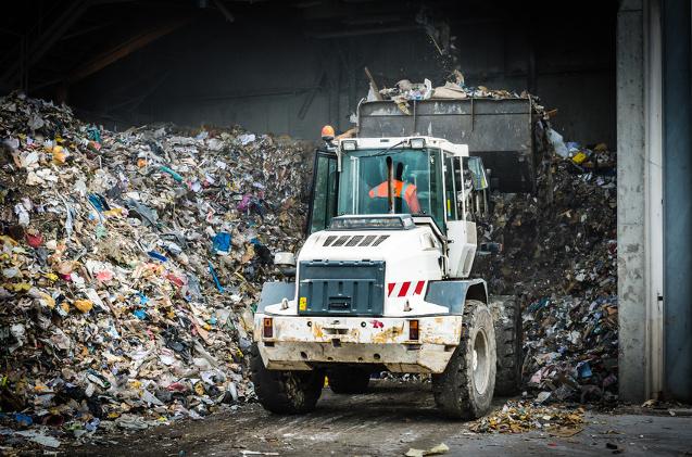 Planta de reciclaje tecnológico.