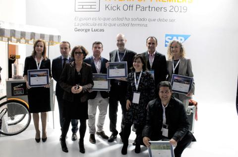 Los premiados del canal de SAP en España en 2019.
