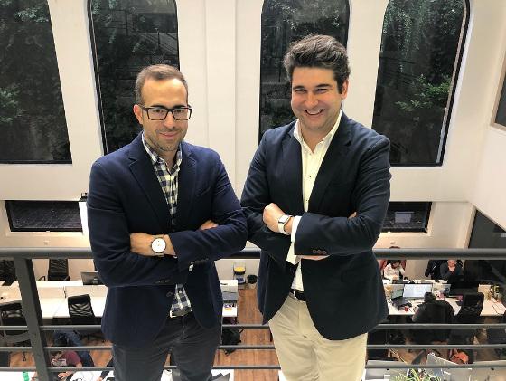 Los fundadores de Redexia, Alex Bryszkowski y Juan Ederra.