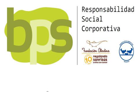 BPS colabora la Fundación Aladina y con el Banco de Alimentos de Madrid.