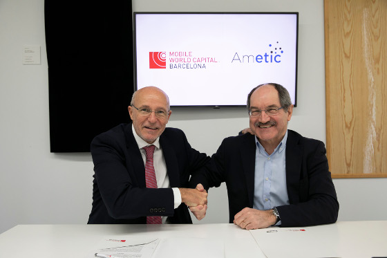AMETIC renueva el acuerdo de colaboración en 5G con Mobile World Capital Barcelona.