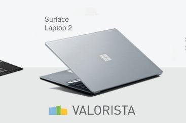Valorista comercializa en España la gama Surface de Microsoft.