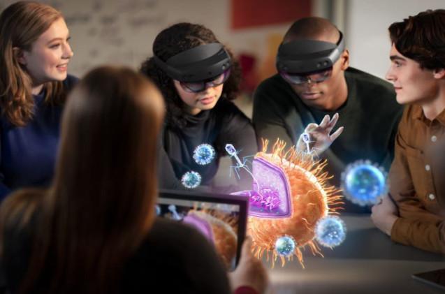 HoloLens 2 de Microsoft.
