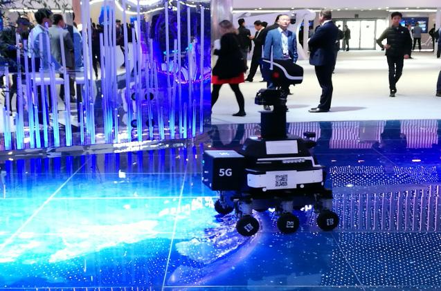 Drones y robots industriales 5G en el MWC
