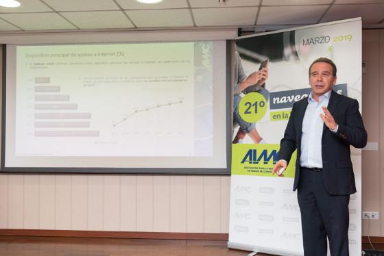 Pablo Alonso, director general técnico de AIMC, en la presentación de 21ª edición de Navegantes en la Red.