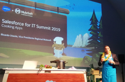 Un momento del evento Salesforce for IT Summit de Madrid.