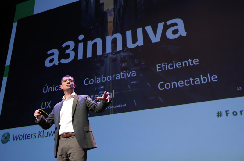 Tomàs Font, de Wolters Kluwer, en la presentación de a3innuva.