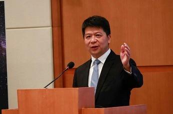 Guo Ping, presidente rotatorio de Huawei.