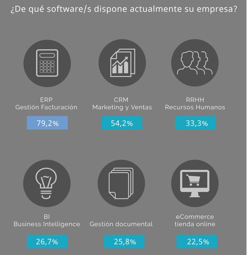 Fuente: SoftDoit 2019 (sobre una base de 120 empresas).
