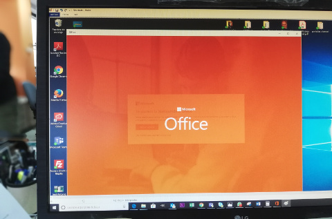 Office 365 desplegado en el PC de un usuario.