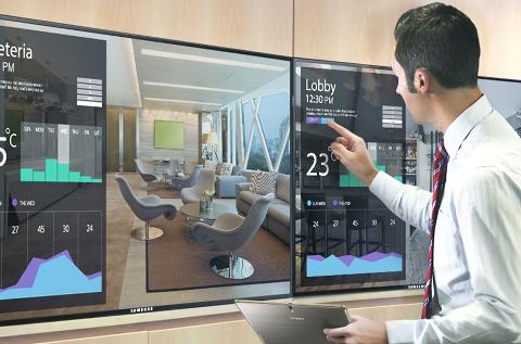 Aplicación de vídeo profesional de Samsung para hoteles.