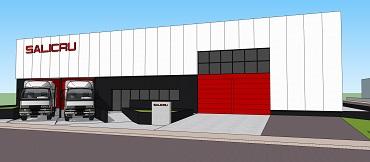 plano del nuevo almacén de Salicru