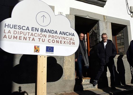 73 municipios oscenses ya están conectados