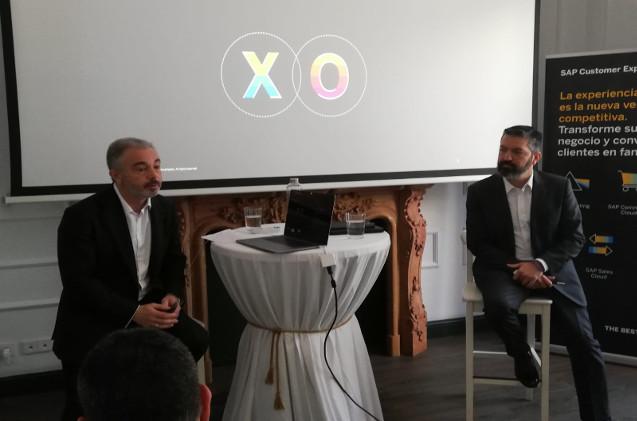 Alfonso Cossío, country manager de SAP Customer Experience, y Jesús Martínez León, gerente de Soluciones Customer Experience en SAP para la región de SEFA.