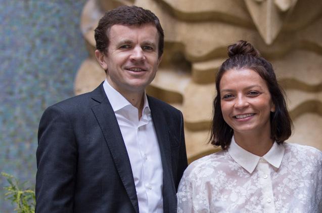Frédéric Durand, CEO de Diabolocom, y Leïla Bouguetaia, directora comercial de Diabolocom España
