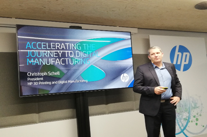 Christoph Schell, Vicepresident of Printing 3D & Digital Manufacturing de HP.