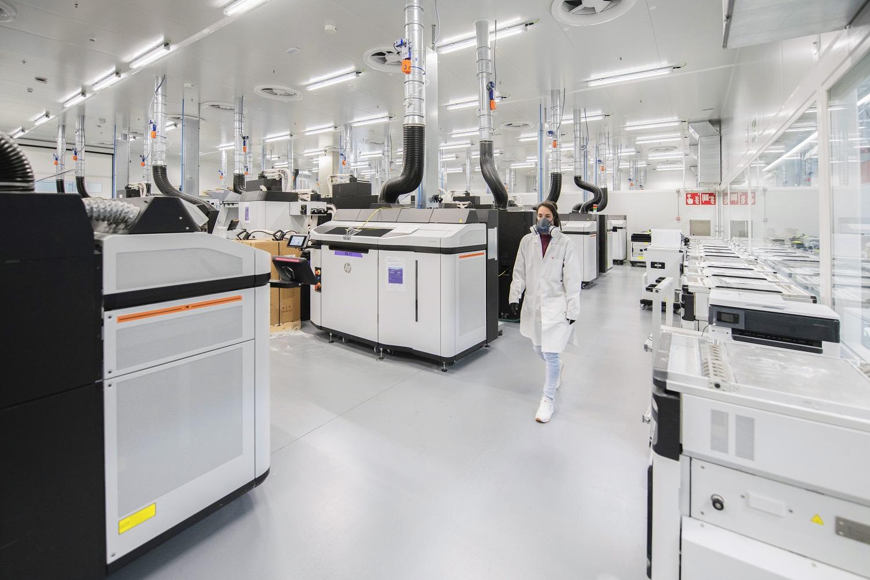 Centro de impresión 3D y fabricación digital de HP en San Cugat del Vallés (Barcelona).