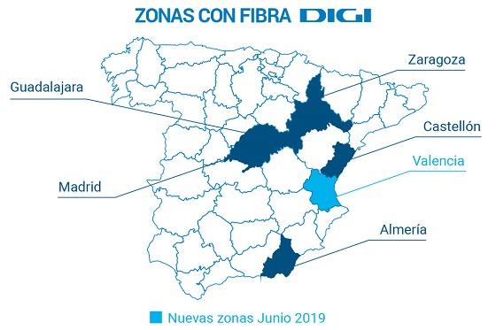 La cubra de Digi en España.