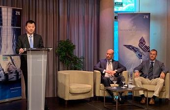 Xincun Liu, CEO ZTE Managed Services Southern Europe, en la presentación en Gijón.