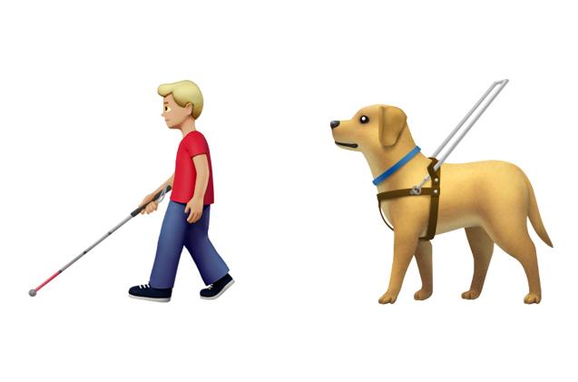 Emojis de Apple sobre discapacidad.