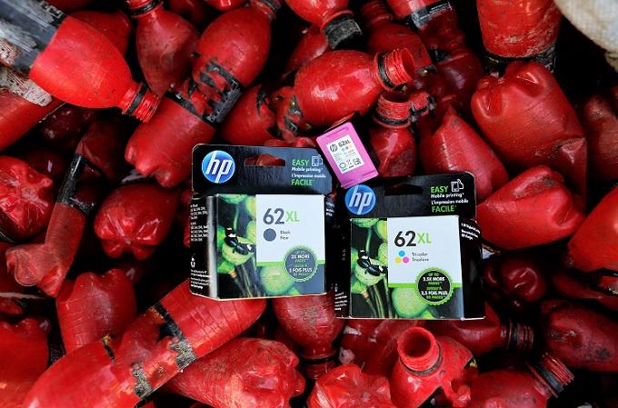 HP está embarcada en una política de reciclaje de plásticos ambiciosa.