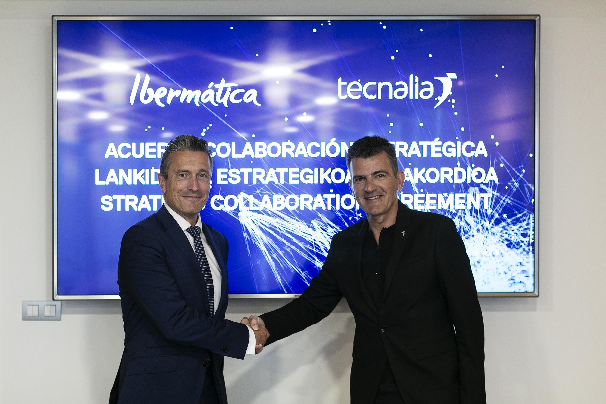 Juan Ignacio Sanz, director general y consejero delegado de Ibermática, y Iñaki San Sebastián, CEO de Tecnalia.