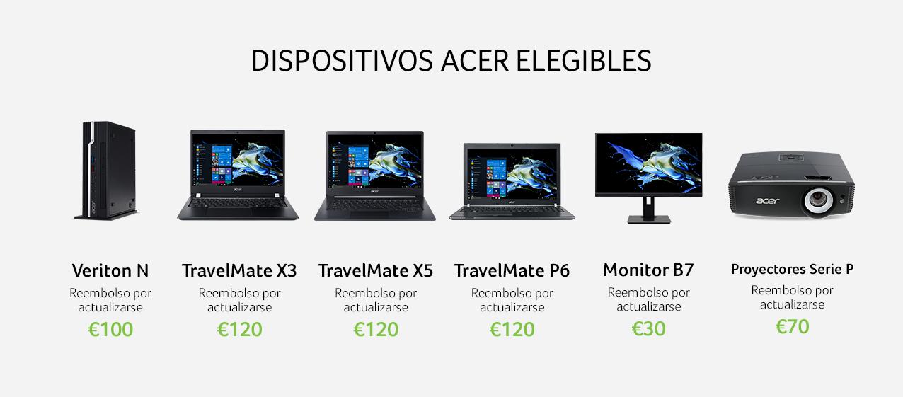 Descuentos en los portátiles de Acer con Windows 10.