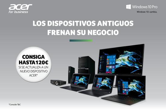 Portátiles de Acer con Windows 10.