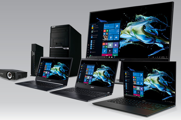 Portátiles de Acer con Windows 10.