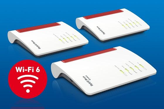 Nuevos modelos FritzBox compatibles con Wi-Fi 6 y 5G.