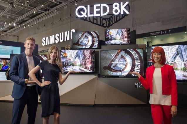 Presentación de monitores 8K de Samsung en el IFA 2019.