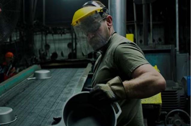 Trabajador del sector industrial.