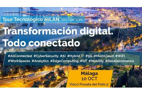 "Llega a Málaga el Tour Tecnológico Aslan 2019 ""Transformación digital: todo conectado""."