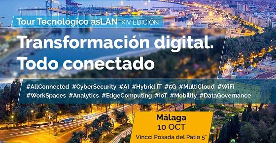 "Llega a Málaga el Tour Tecnológico Aslan 2019 ""Transformación digital: todo conectado"""