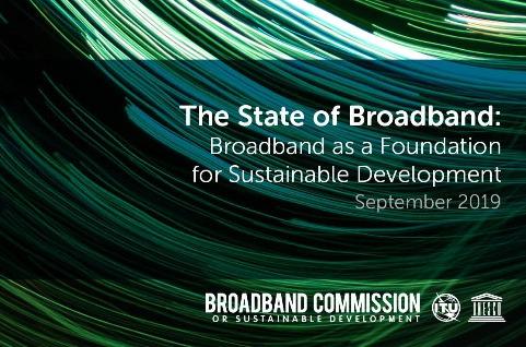 El Estado de la banda ancha 2019: la banda ancha como base para el desarrollo sostenible.