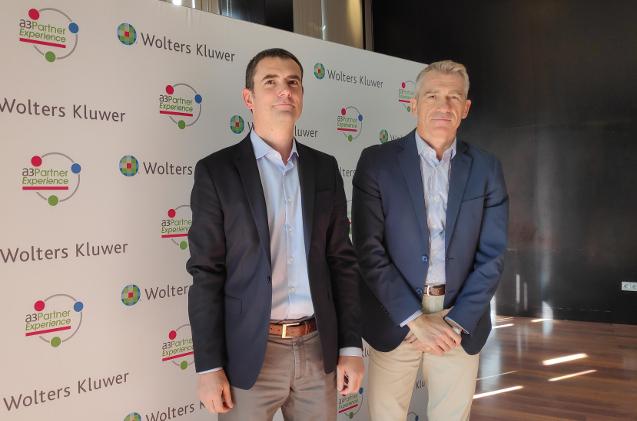 Tomàs Font y Josep Aragonés, en el evento de partners de Wolters Kluwer 2019.