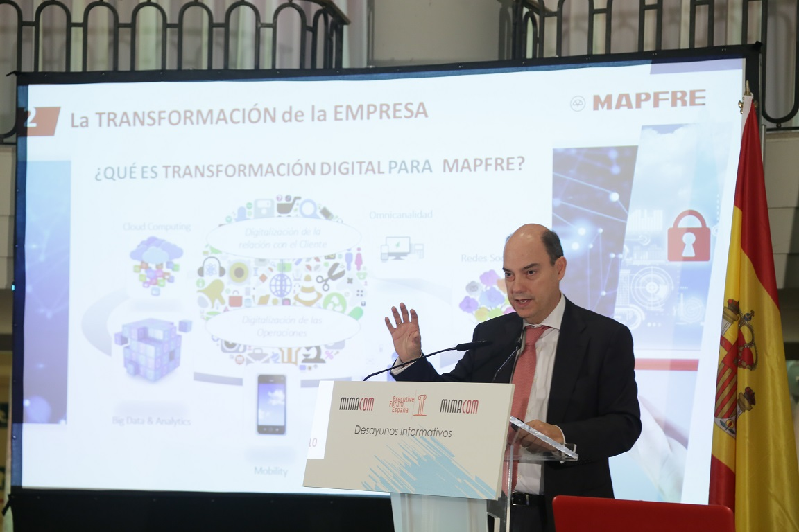 José Manuel Inchausti, Vicepresidente de Mapfre y CEO del Área Territorial y Regional de Iberia, en un encuentro organizado por Executive Forum.