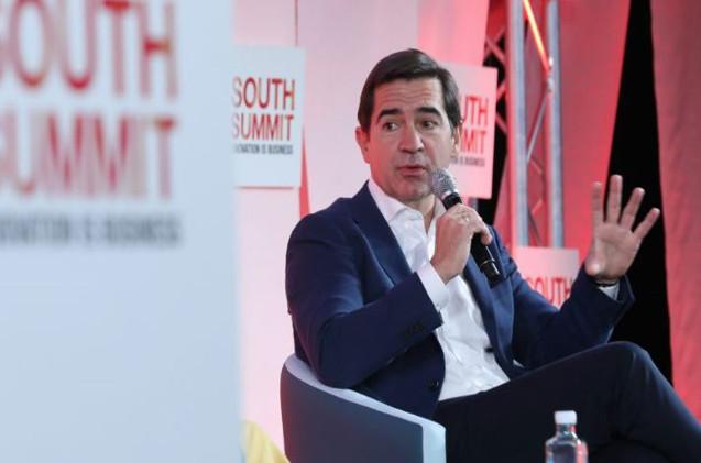 Carlos Torres Vila, presidente de BBVA, durante su intervención en South Summit.