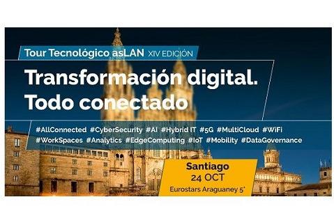 Santiago, protagonista de la tercera parada del Tour Tecnológico @asLAN 2019.