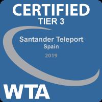 Santander Teleport obtiene la certificación Tier 3 del WTA.