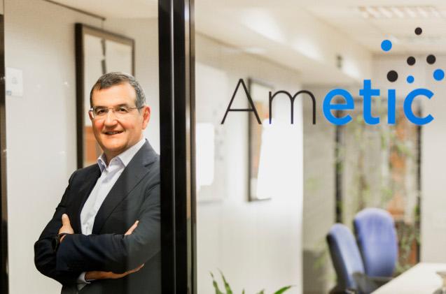 Francisco Hortigüela, en las oficinas de Ametic.