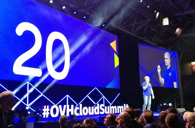 Michel Paulin, CEO de OVHCloud durnte el encuentro OVHcloudSummit que se celebra en París
