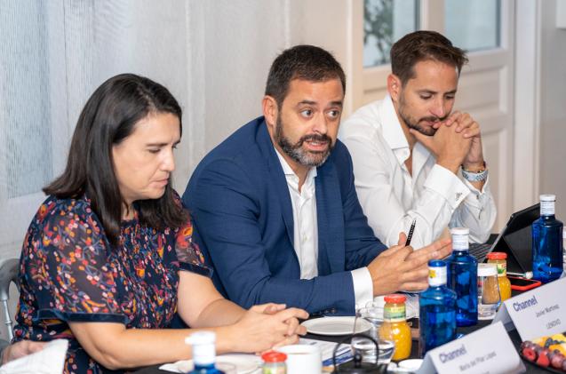 Javier Martín, education business manager de Lenovo, en un momento del debate de educación