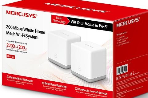 Sistema Halo S3, Wi-Fi en malla de Mercusys.