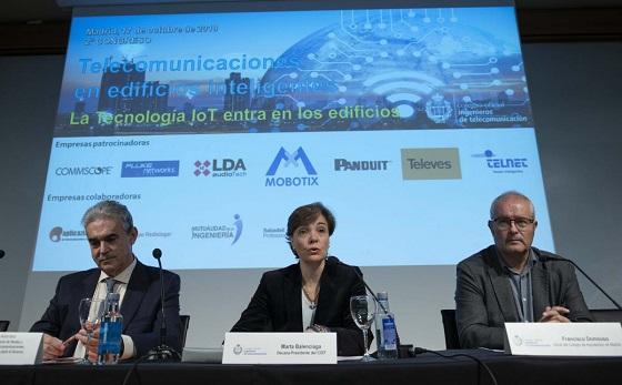 """Congreso """"Telecomunicaciones en Edificios Inteligentes"""", del COIT."""