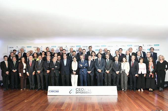 Alianza #CEOPorLaDiversidad con el compromiso de 60 CEO que han decidido acompañar a la Fundación Adecco y la Fundación CEOE