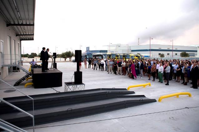 Inauguración del nuevo almacén de Depau.