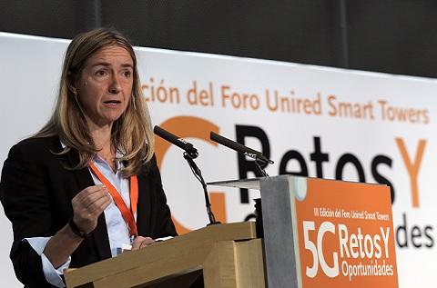 La presidenta de UNIRED, Matxalen Lauzirika, durante la III edición del Foro Unired Smart Towers