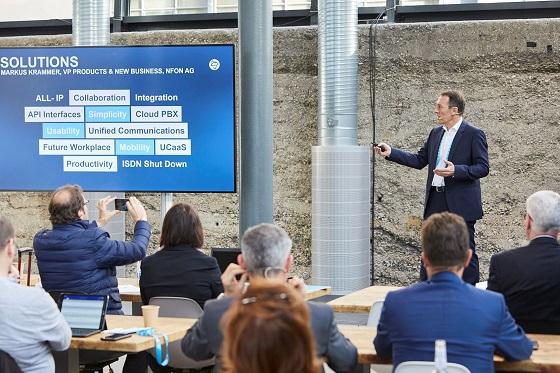 Markus Krammer durante la presentación de Nvoice para Microsoft Teams y NCTI Pro.