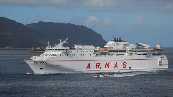 Naviera Armas vuelve a confiar en Europa para conectar sus barcos